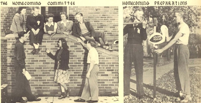 Homecoming preparations circa 1942
