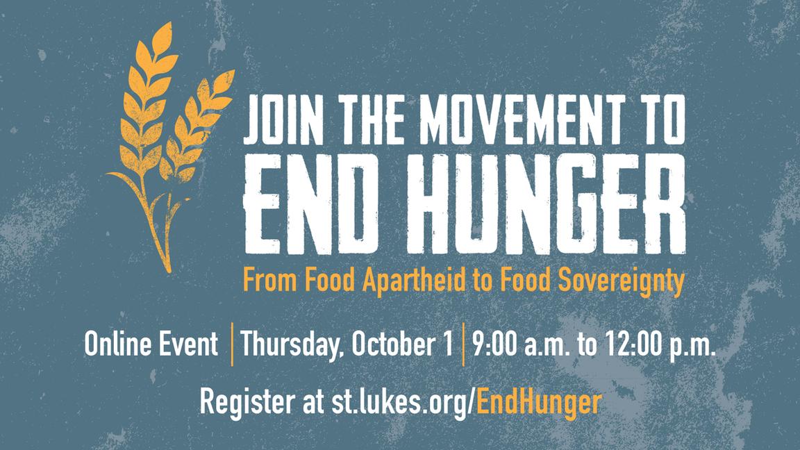 End Hunger Webinar event page