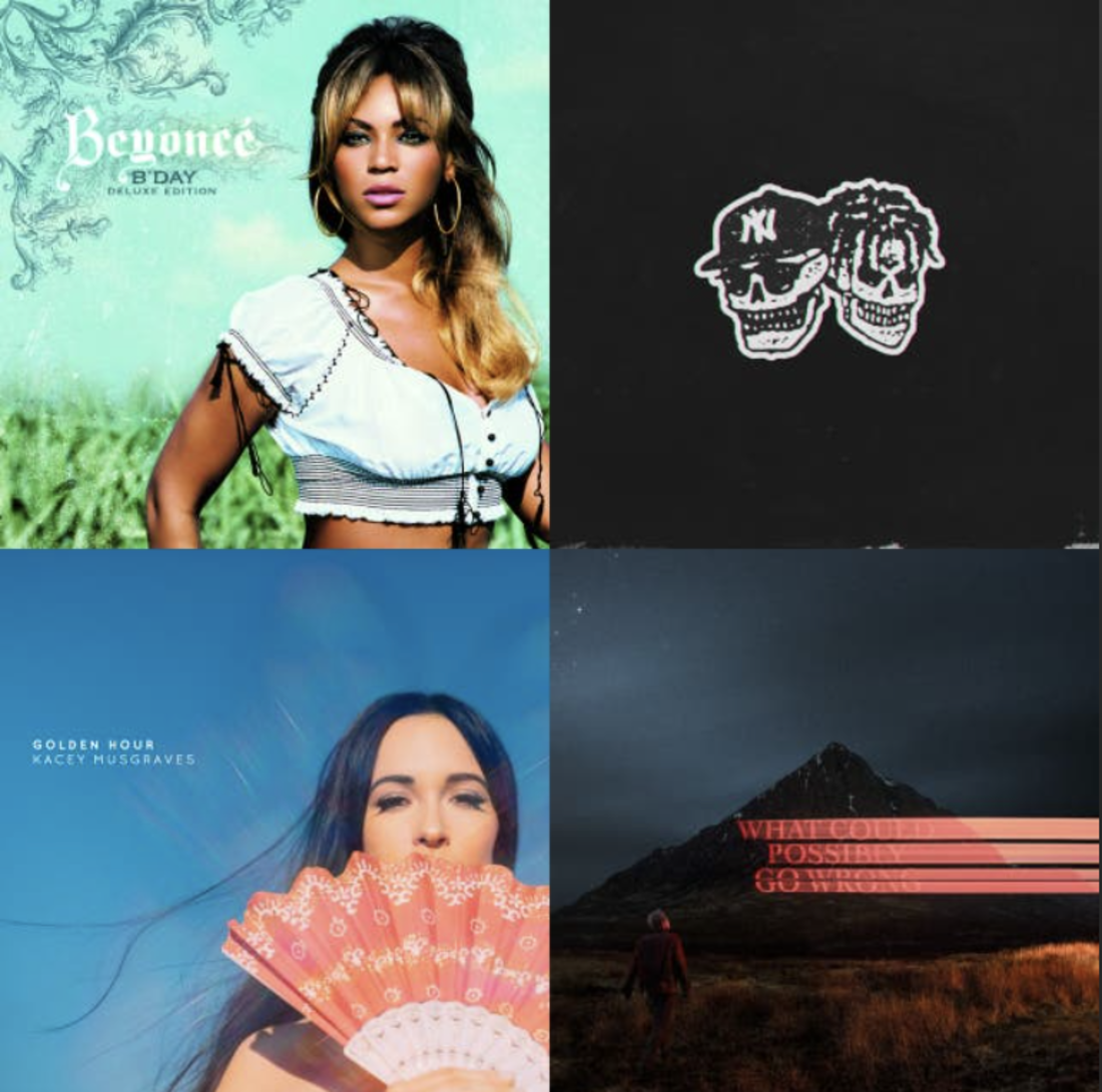 playlist cover image that includes Kacey Musgraves, Beyonce and two others