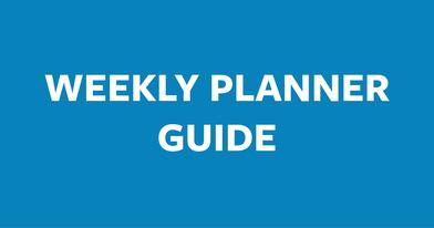 Weekly Planner Guide