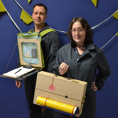 Sean Derry and Sharon Massey with their sculpture project