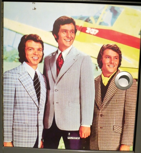 3 men in polyester suits