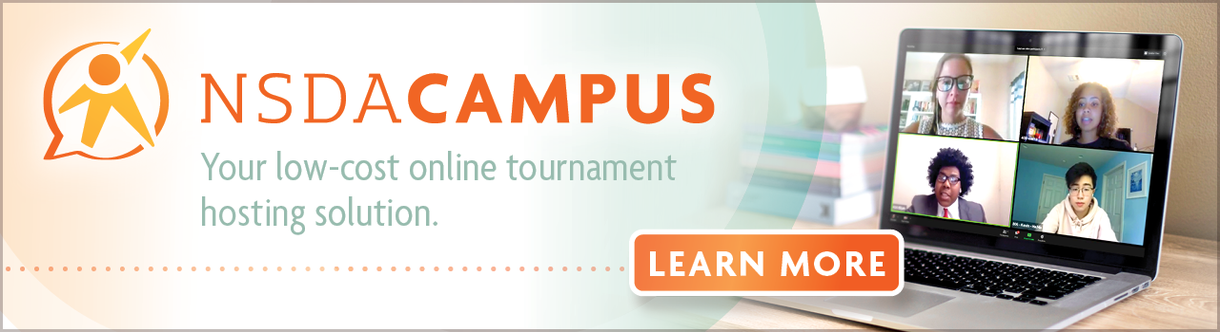 NSDA Campus Your low-cost online tournament hosting solution