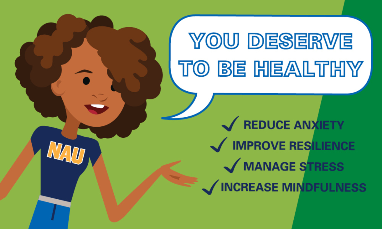 NAU Resilience Project campaign to improve student well-being and health.