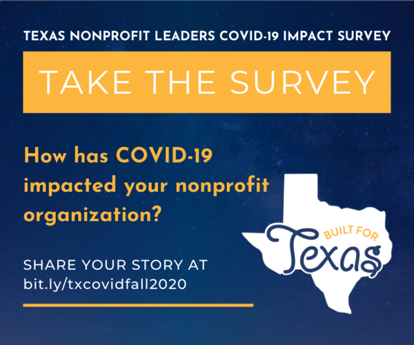 Take the Texas Nonprofit Leaders COVID-19 Impact Survey
