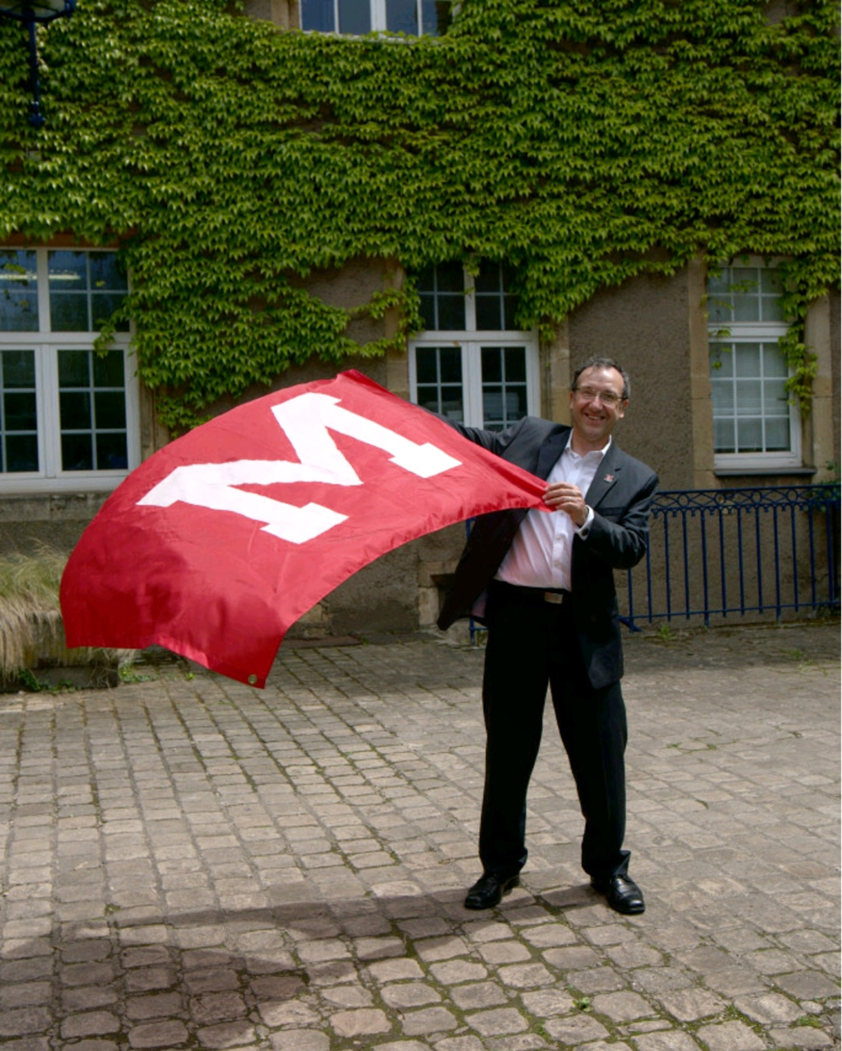 Thierry Leterre with the Miami flag