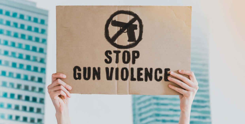 stop gun violence sign