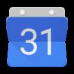 White number 31 on blue background, symbolizing a calendar