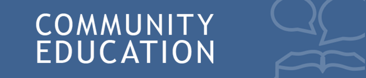 community education banner
