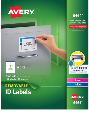 Avery 6464 Removable Labels