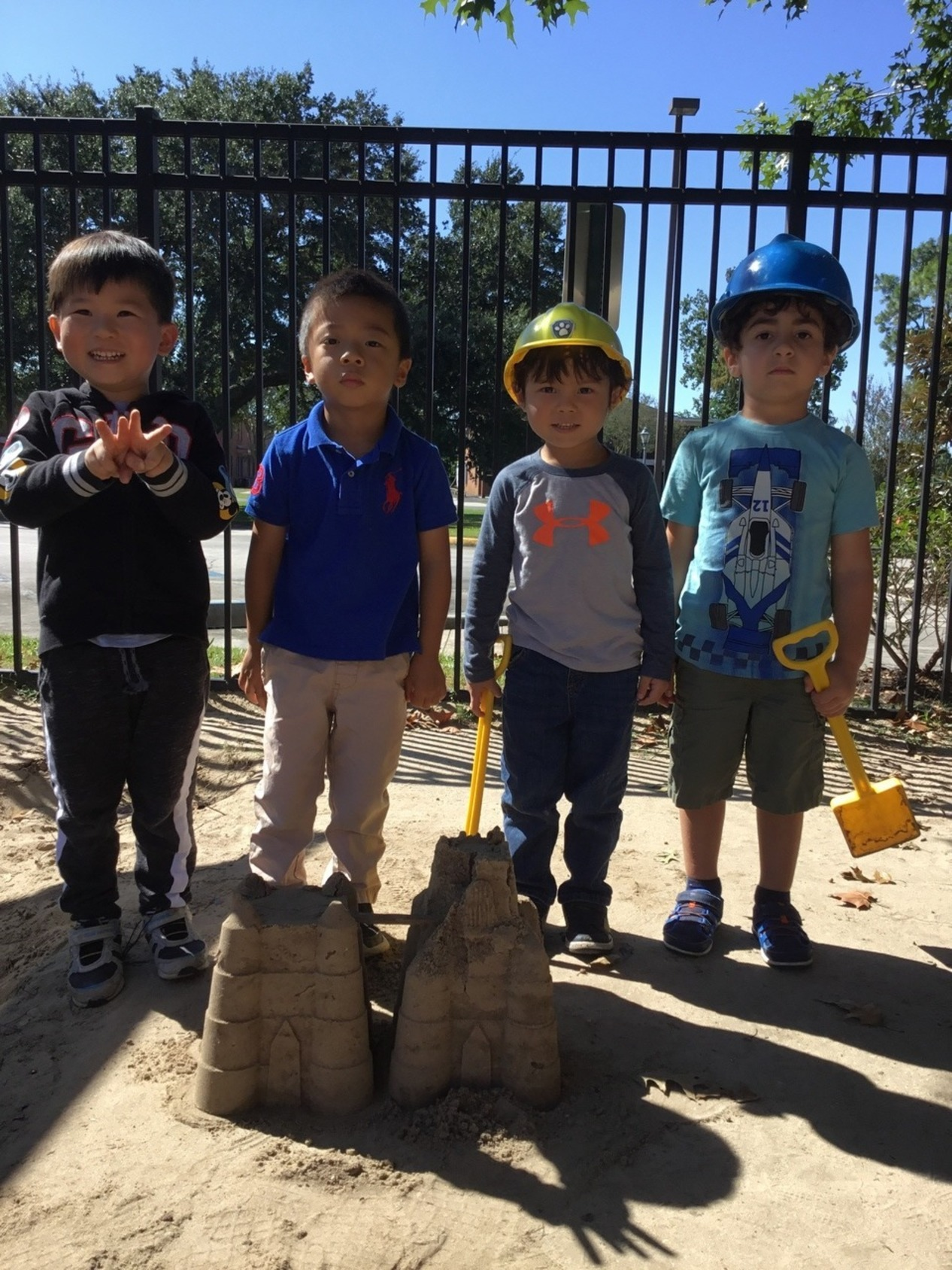 4 construction worker boys