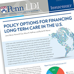 Financing Long-Term Care