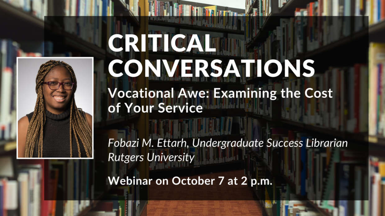Critical Conversations Series Continues