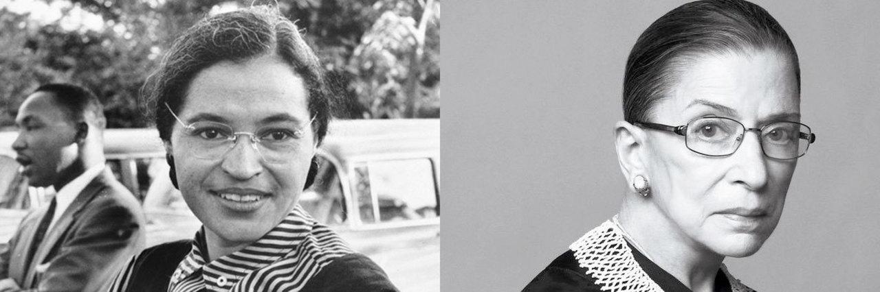 Rosa Parks, Ruth Bader Ginsburg