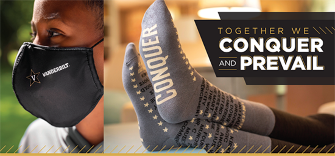 Limited-edition Vanderbilt socks and face masks are here!