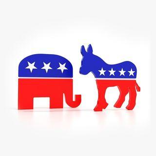 Political Elephant and Donkey
