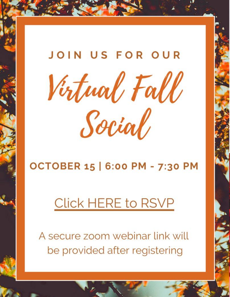 Virtual Fall Social - Thursday, Oct. 15