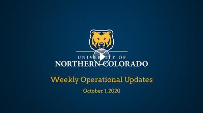 Weekly Operational Updates, Oct. 1