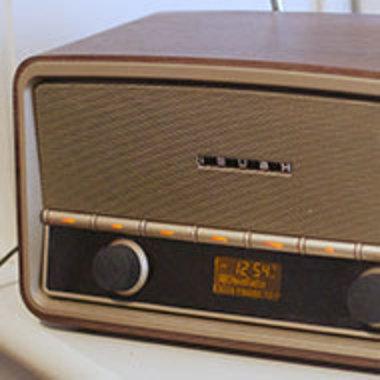 Closeup of old radio