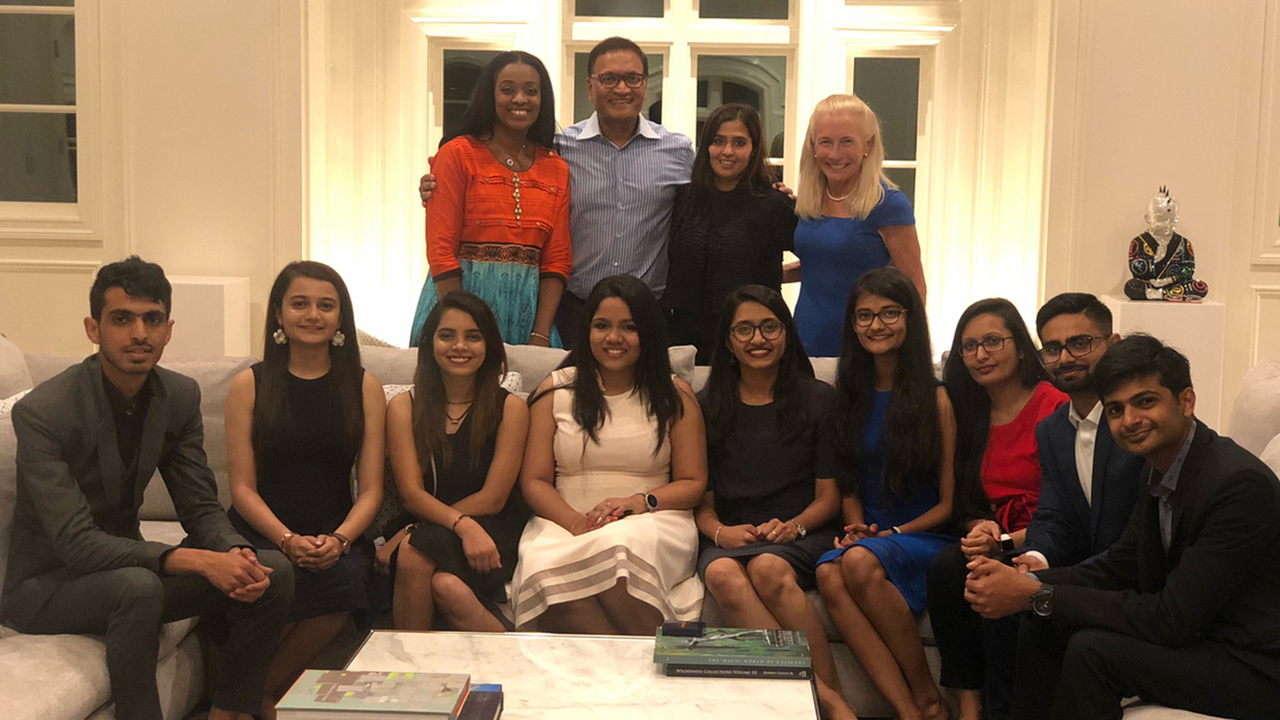 Dr. Henderson and Tamara Cunningham with Indian students