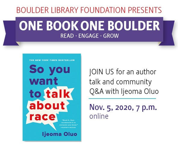 One Book, One Boulder: So You Want to Talk About Race