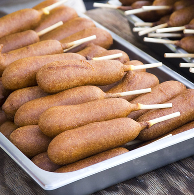 Tray of Corn Dogs