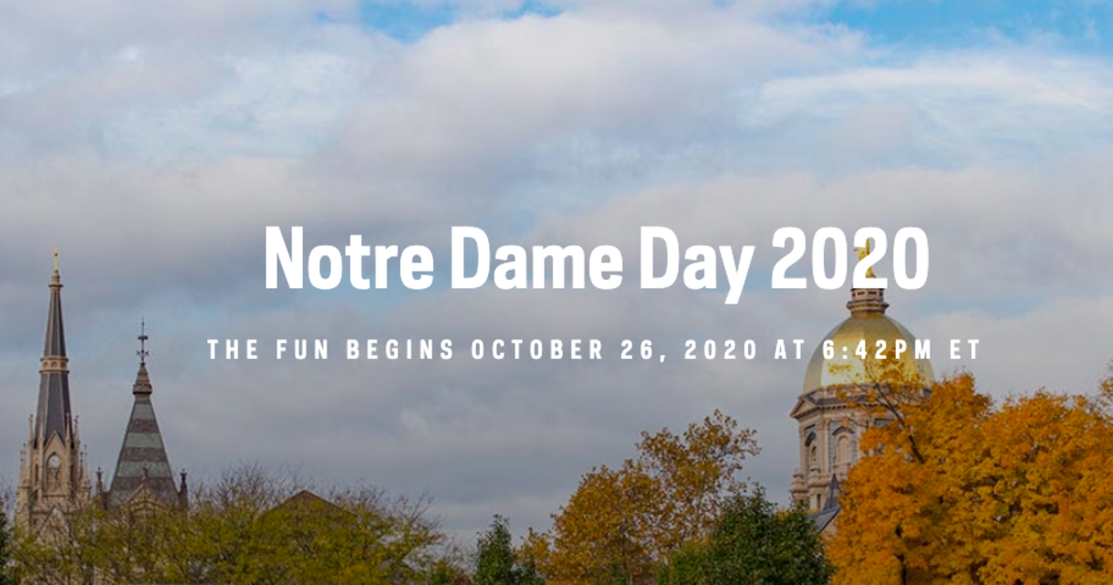 Notre Dame Day, Oct. 26, 2020, 6:42 p.m. ET