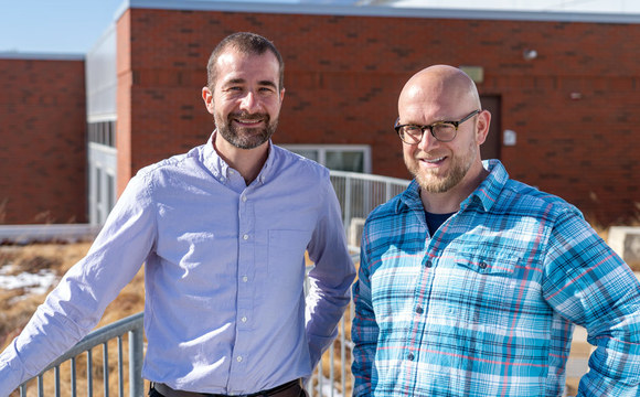 Photo of Central College professors Brian Campbell and Joshua Dolezal