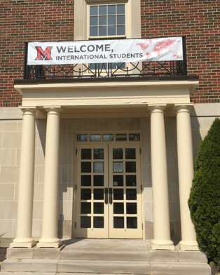 Entrance to ISC at MacMillan Hall
