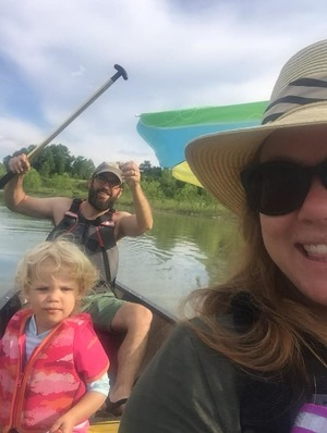 Kevin and family canoeing