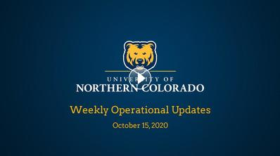 Weekly Operational Updates, Oct. 15