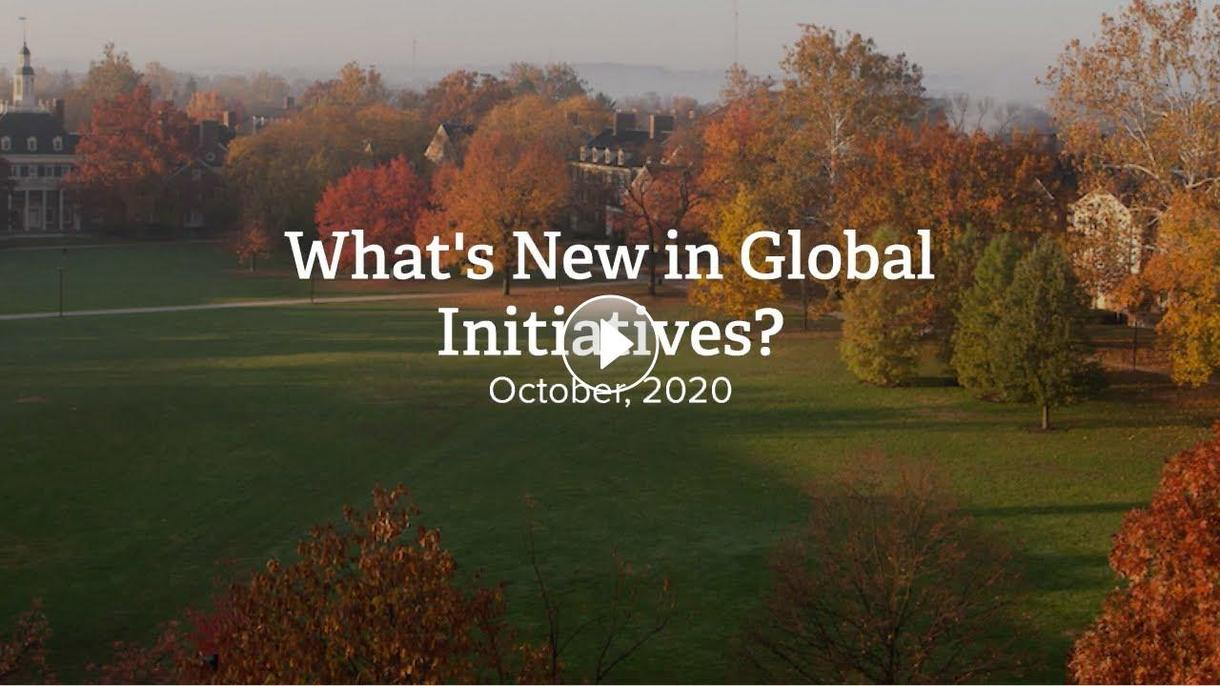 What's new in Global Initiatives October 2020