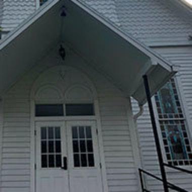 Close-up of church