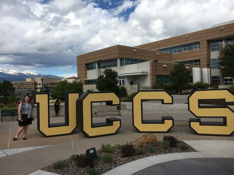 UCCS giant letters on campus