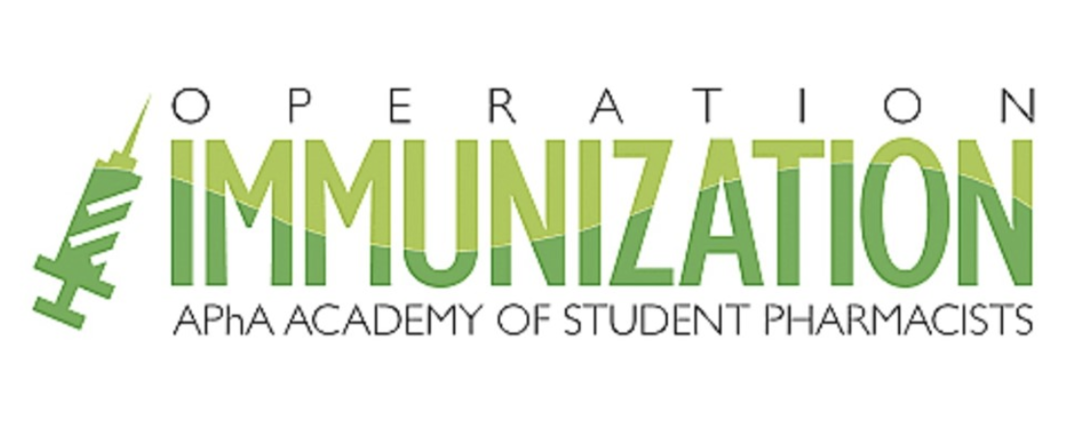 Image that reads: Operation Immunization APhA Academy of Student Pharmacists