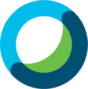 blue, green, and white ring - Webex logo