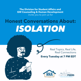 Honest Conversations: Isolation Every Monday at 7pm