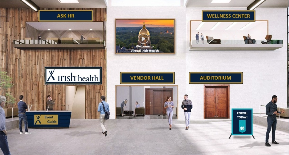 Virtual photo of virtual Irish Health fair.
