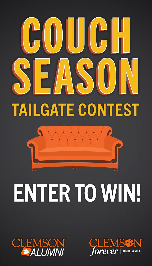 Couch Season Tailgate Contest.Enter to Win!