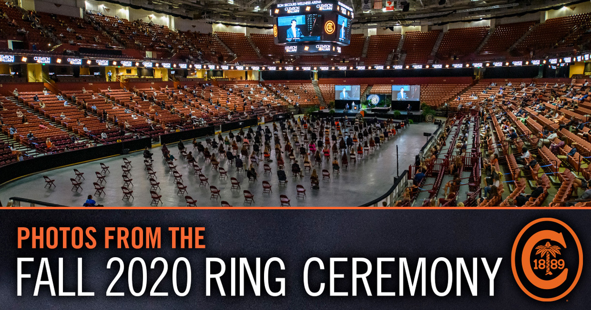 Photos from the Fall 2020 Ring Ceremony