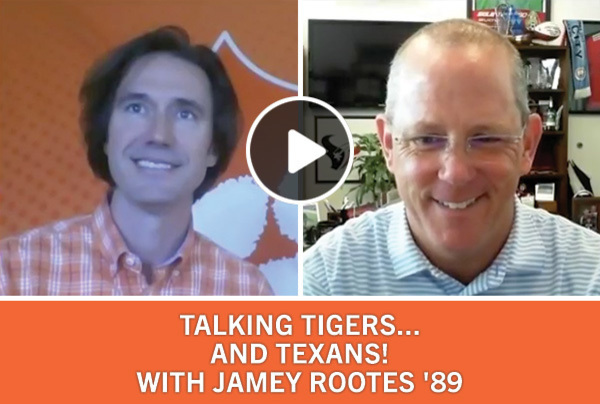 Talking Tigers and Texans with Jamey Rootes '89