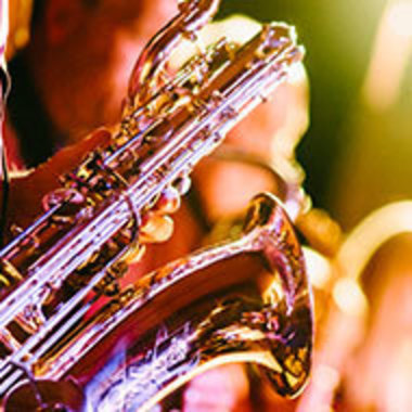 Closeup of saxophone