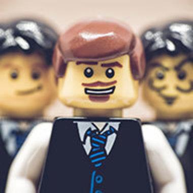 Lego minifigure business team