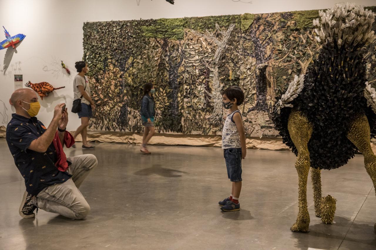child in Uribe exhibition