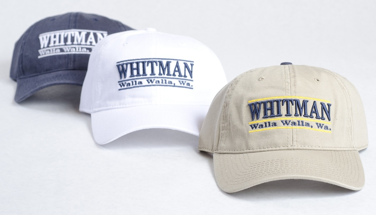 Whitman College baseball caps