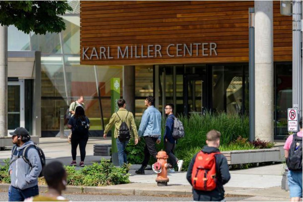 Portland State University Karl Miller Center Building
