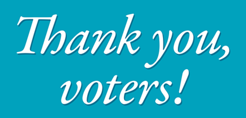 Thank you voters, link to