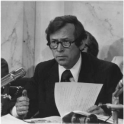 Image of Senator Howard Baker from the Watergate hearings