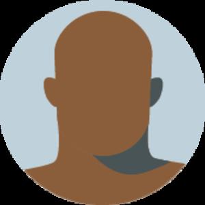 Icon of a faceless bald brown man
