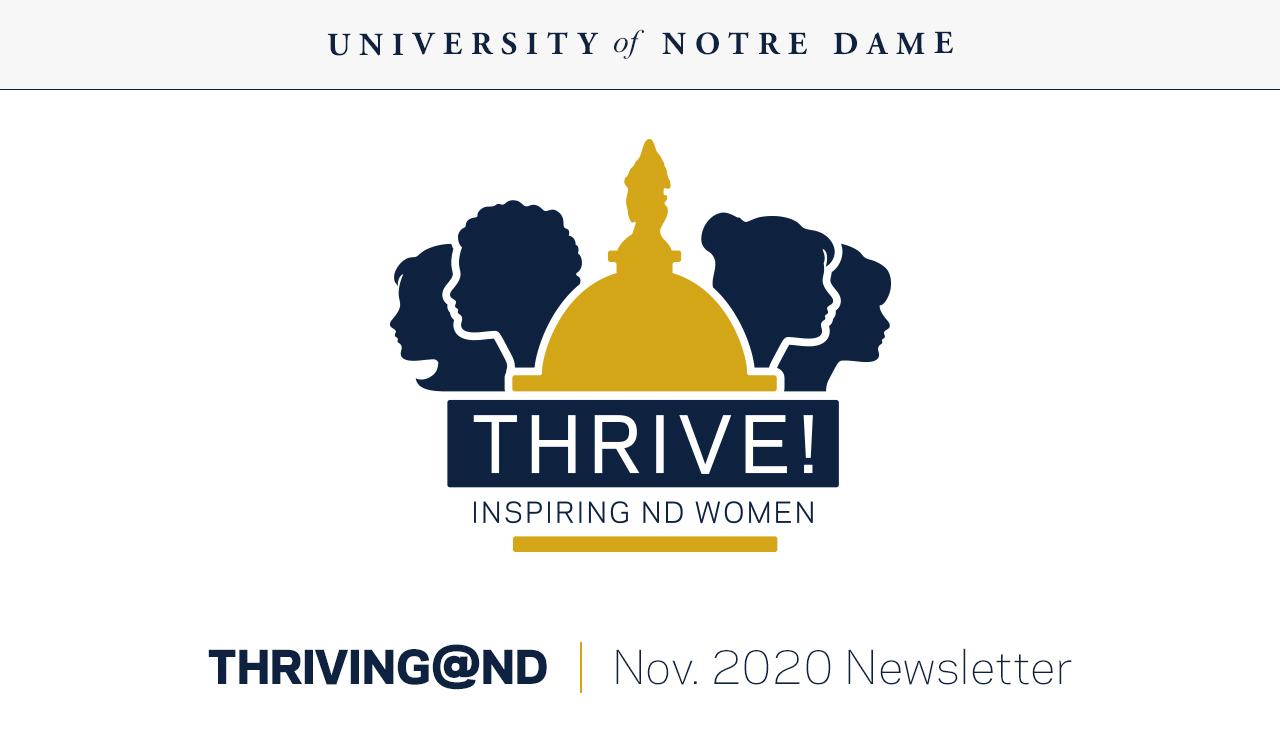 Thriving@ND newsletter October 2020